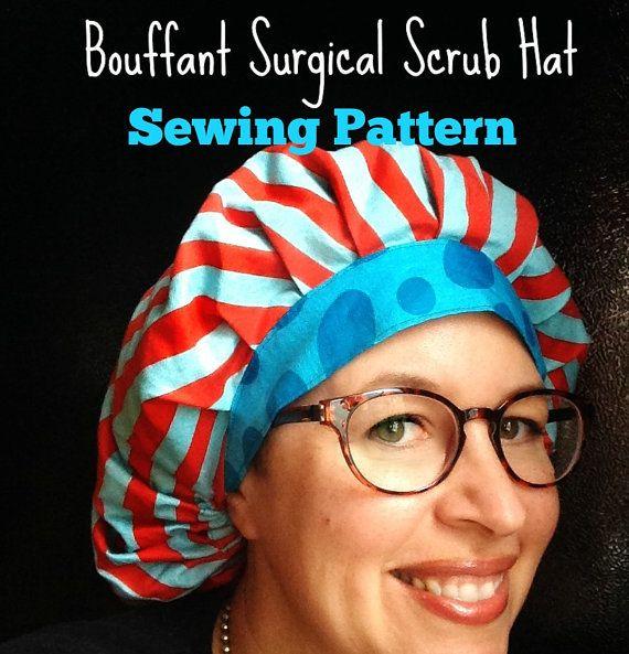 Scrub Hat Sewing Pattern Diy Bouffant Surgical Scrub Hat