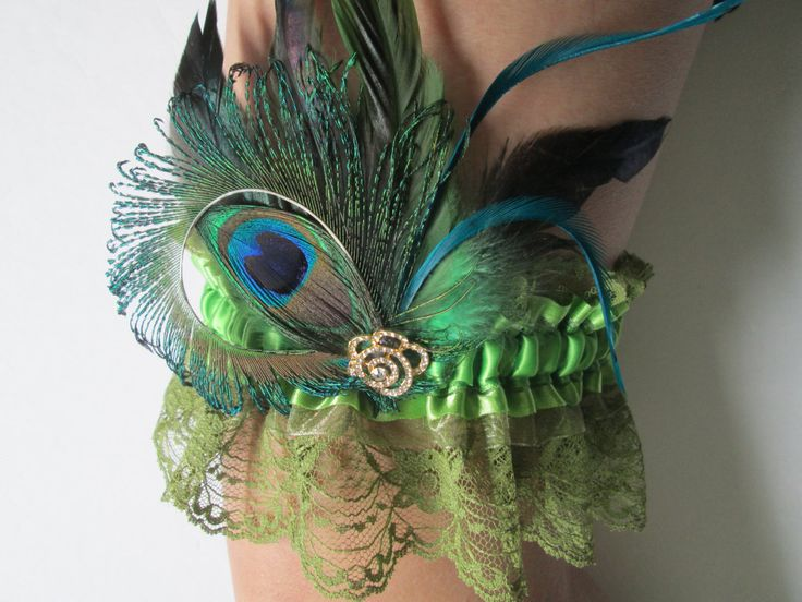 Lace Wedding Garters Green AVOCADO Kiwi Peacock Feather Prom For Spring Or Irish Bride Community