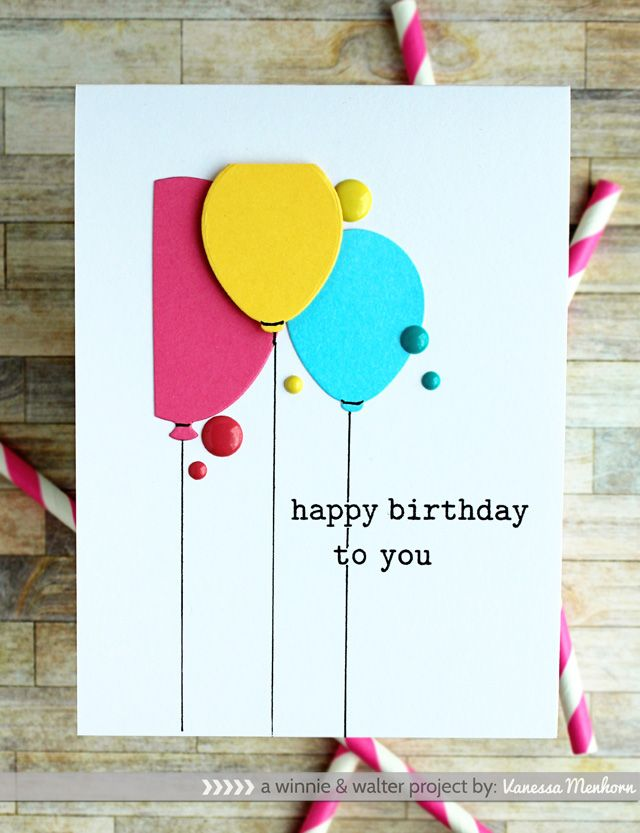 126 best Cartes - Ballons (Cards - Balloons) images on Pinterest