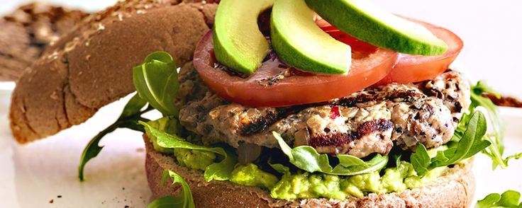 Fresh California Avocado Turkey Mushroom Burgers | Gourmet Garden