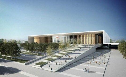 Hangzhou South Station, gmp arhitekten, train station, rail station, hangzhou, high speed rail, china
