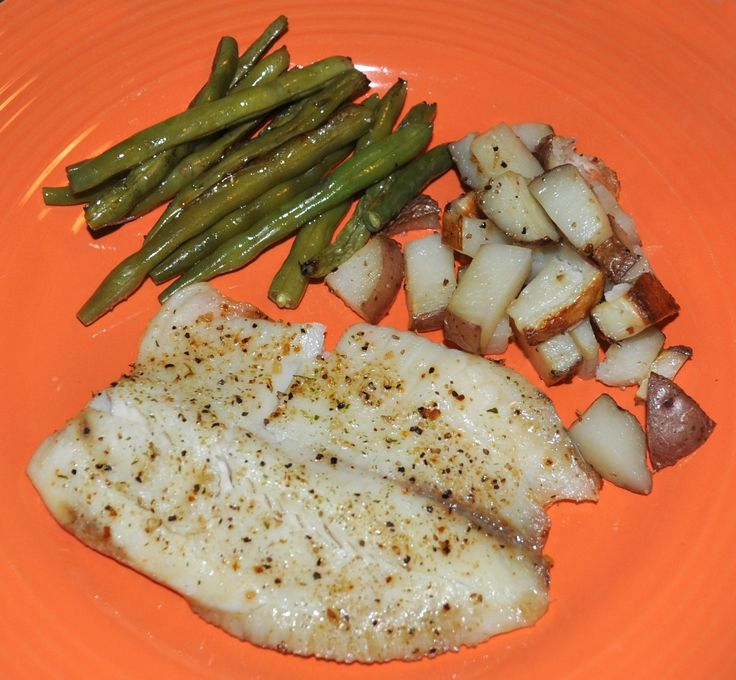 Oven Baked Tilapia with Fresh Veggies Oven Baked Tilapia with Fresh Veggies is a clean eating dish that's easy to prepare using ingredients from ALDI. 1 bag of frozen Tilapia fillets (boneless, ski...