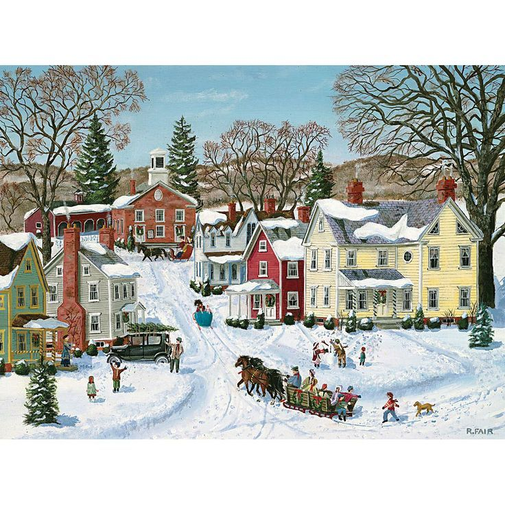 wysocki small town christmas puzzle worksheets