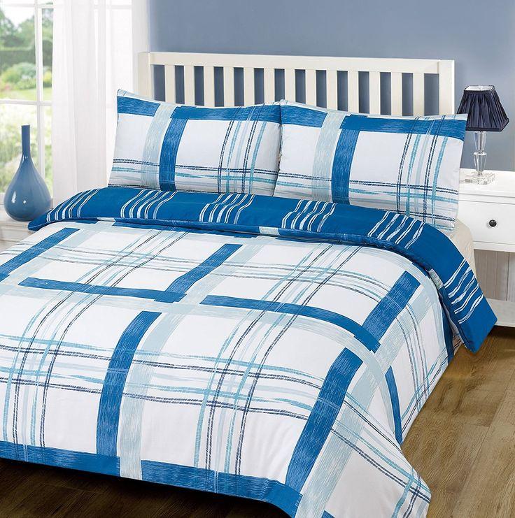 Dreamscene Poole Duvet Set With Pillowcases Soft Touch