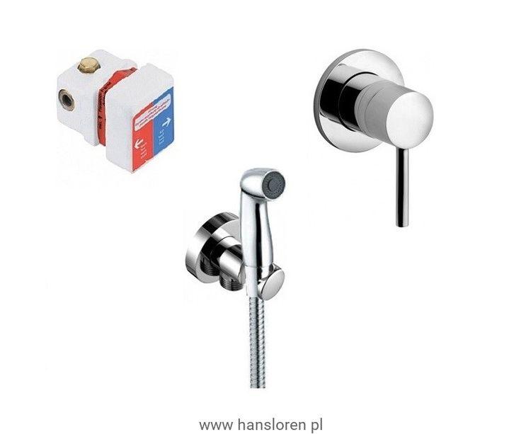 Bozz Kludi zestaw higieniczny komplet chrom - 3899905-76