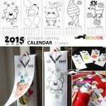 Coloring calendar for the smallest kids – 2015