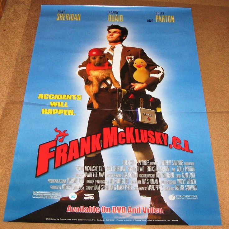 Frank McKlusky, C.I. Movie Poster 27x40 Used Dolly Parton, Gary Coleman, Emmanuel Lewis, Taylor Hanson, Pat O'Brien, Andy Richter, Zac Hanson, Patrick Cranshaw, Iva Hasperger, Randy Quaid, Adam Gregor, George Lopez,Tracy Morgan, Scott Baio, Lou Ferrigno
