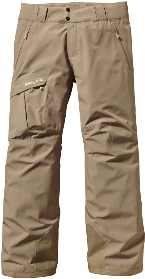 Patagonia Powder Bowl Gore-Tex Ski/Snowboard Pants, L, Ash Tan