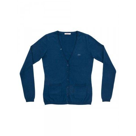 Cardigan V-neck soldi color SUN68 Woman SS15 #SUN68 #SS15 #woman #cardigan