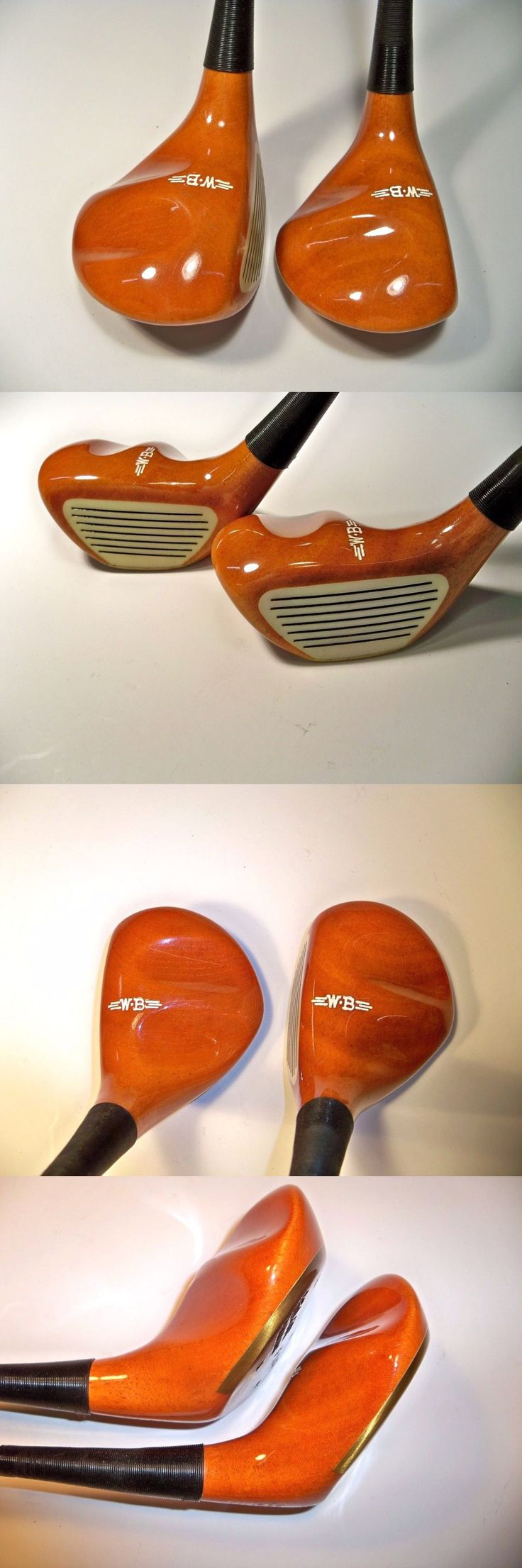 Vintage Golf Clubs and Shafts 83043: Wood Brothers Kool Cat F-3.5 And F-4.5 Cork Filled Vintage Persimmon Rh Golf Clubs BUY IT NOW ONLY: $139.0