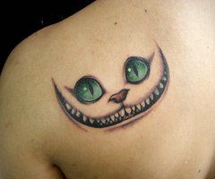 Cheshire Cat Tattoo AliceInWonderland