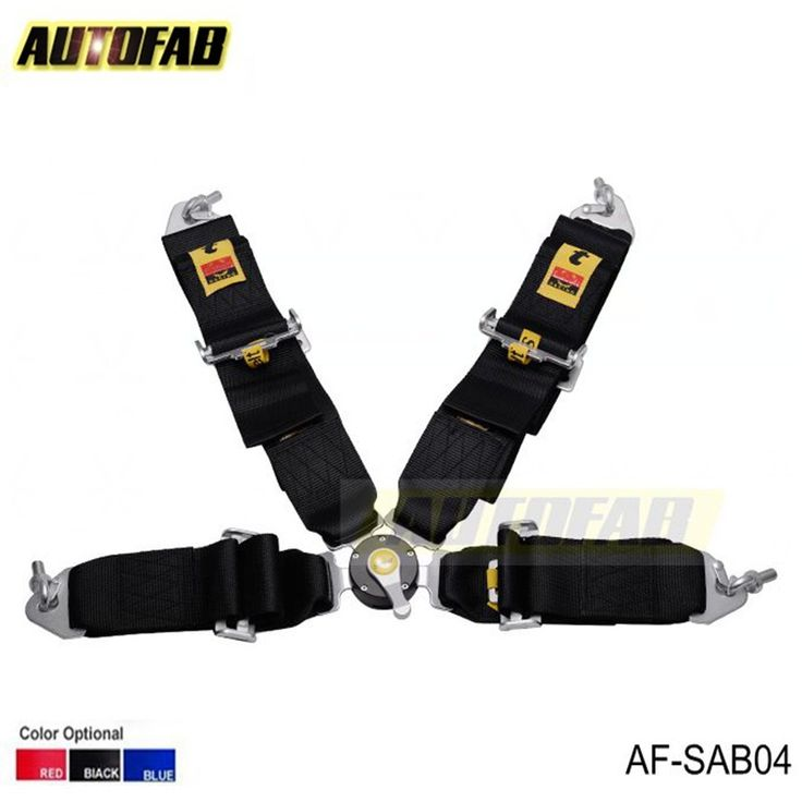 AUTOFAB - 2015 New  Racing Satefy Seat Belt FIA 2020 Homologation /width:3 inches/4Point Color : Black,Red, Blue AF-SAB04