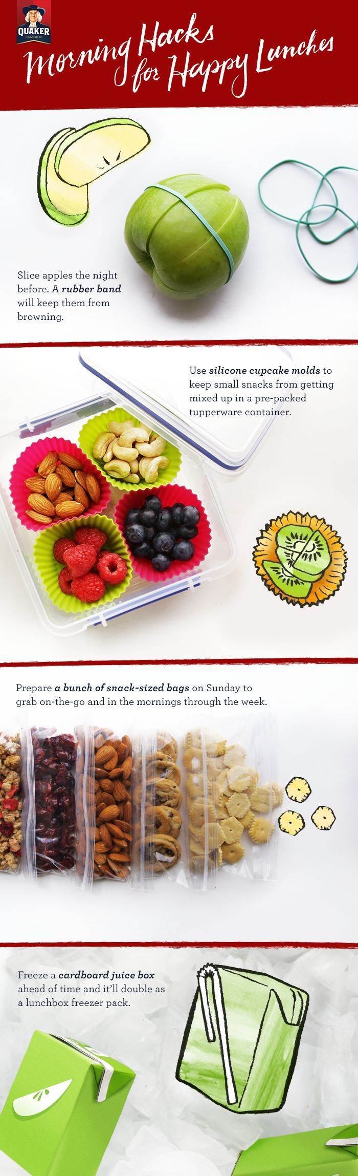 Don't save lunchtime preparation for the day of! These simple make-ahead solutions help bring the fun and ease back into your morning routine while also making sure everyone in the family gets the tasty, nutritious lunch they deserve.