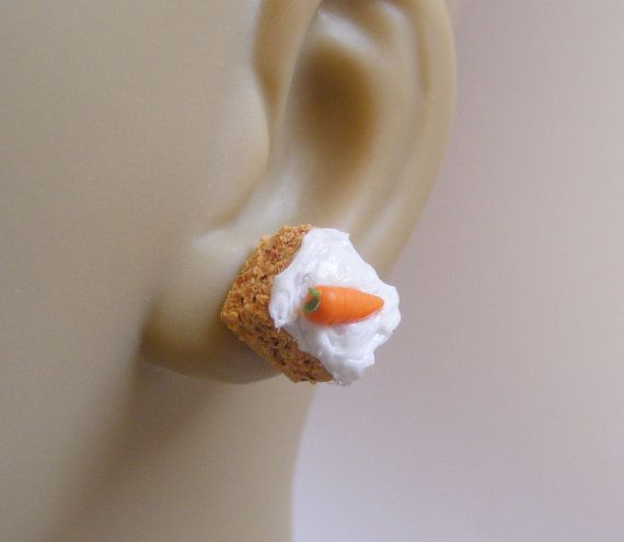 Food Jewelry Carrot and Walnut Cake Slice Miniature by NeatEats