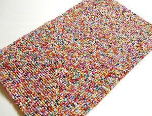 Locker Hooked Tie Dye Rug, Locker Hooking Scatter Rug, Hooked Rug, Bath Rug, Door Mat, Kitchen Rug, Bedroom Rug on Etsy, $65.00