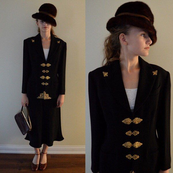 A personal favorite from my Etsy shop https://www.etsy.com/ca/listing/255970010/vintage-ladies-suit-vintage-lolita
