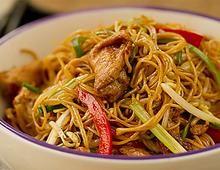 Pollo Lo Mein, fácil, económico y delicioso