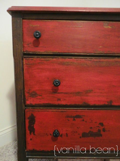 Red And Black Distressed Furniture Home Design Ideas Pictures