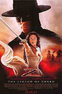 The Legend of Zorro (2005). I didn't love it,  but it's what Tripp & I saw on our very first date. Oh so sappy!
