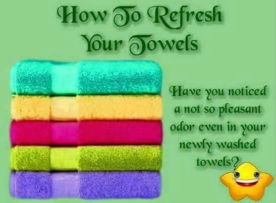 Found this floating around on FB: Wash towels on hot water cycle with ONLY 1 cup white vinegar.. no soaps! Then do another hot water cycle with ONLY 1/2 cup baking soda.. again, no soaps!