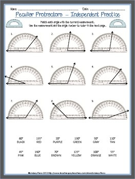 Peculiar Protractors Drawing and Measuring Angles Common C