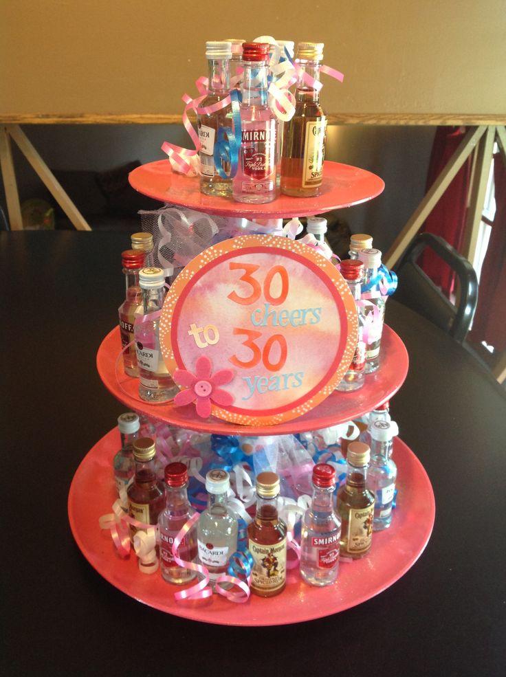 30 cheers to 30 years, 30th birthday gift with 30 mini liquor bottles........it's just around the corner....aahhhhhhh!!!!! Im getting nervous!!!!