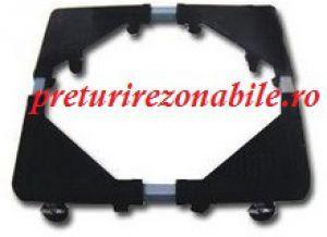 Suport metalic pentru electrocasnice este ultra rezistent si mobil, suport metalic poate sustine o greutate de pana la 138 Kg, putandu-se ajusta la dimensiuni de pana la 56 x 65 cm.