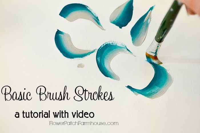 Basic Painting Strokes for decorative painting. With just a few different strokes you can make endless designs, scroll work, flowers and other fabulous DIY Decor. Paint gifts or just enjoy crafting for the fun of it.