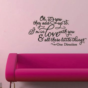 one direction little things vinyl wall decal sticker lyrics poster girls bedroom living home