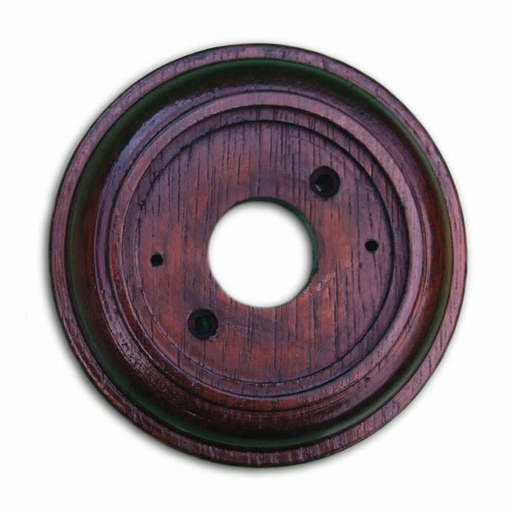 Mahogany Plinth, Varnished and Weatherproof, for 76mm (3 ) dia Bell Pushes