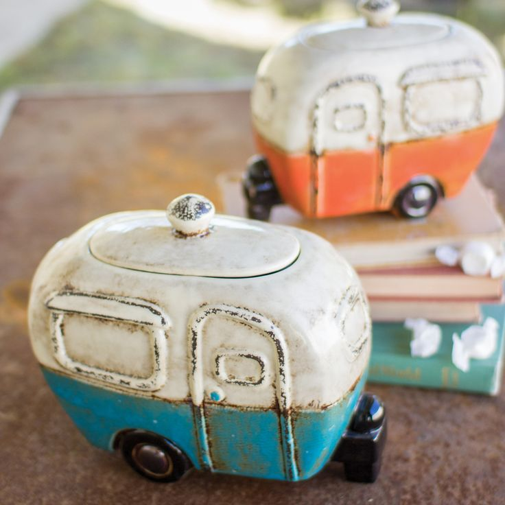 Happy Camper Canisters - Set of 2