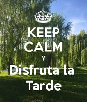 KEEP CALM Y Disfruta la Tarde - KEEP CALM AND CARRY ON Image Generator