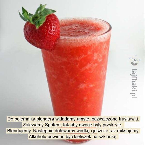 Drink z truskawkami