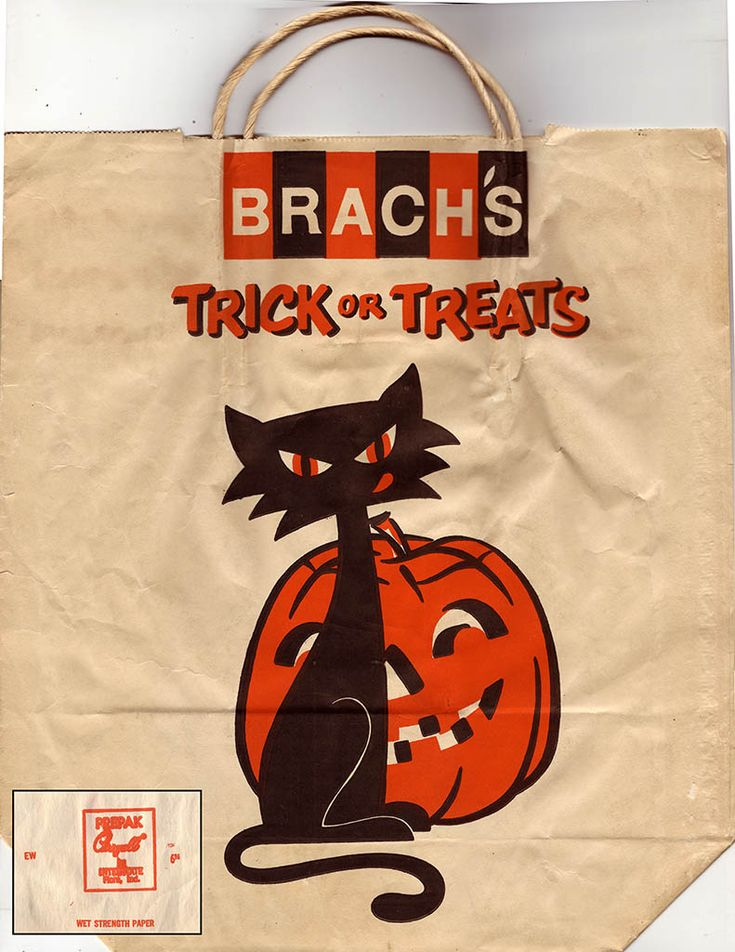 CC_Brach's Halloween Trick or Treats paper bag - Early 1970's    We used these every year, I swear.
