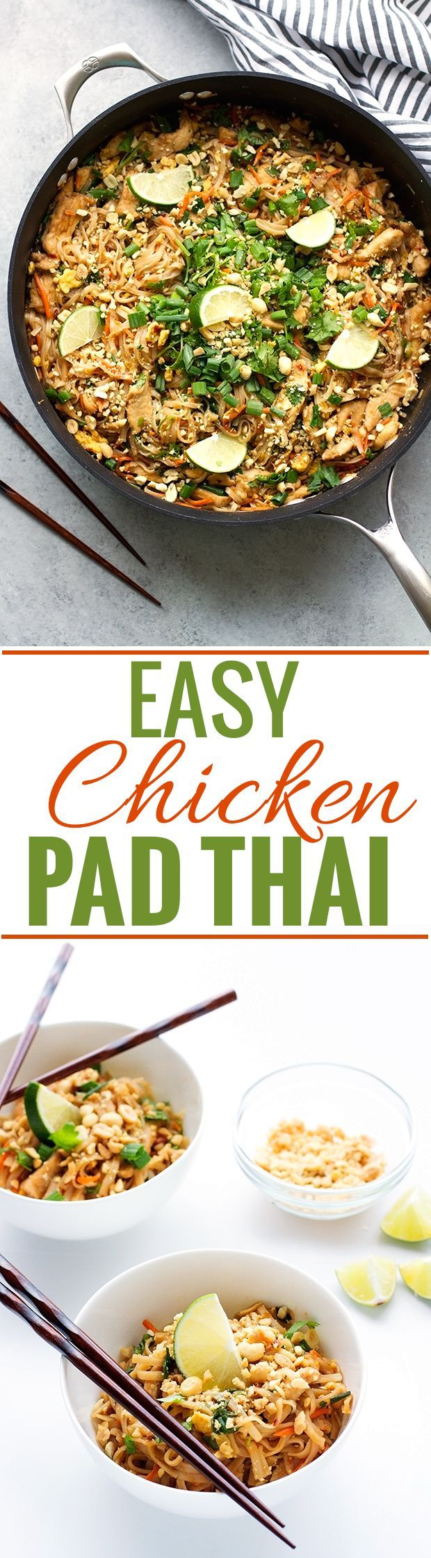 shop running room Easy Chicken Pad Thai Recipe   this takes 30 minutes to make and is soooooo GOOD   padthai  thaifood  takeoutfakeout   Littlespicejar com