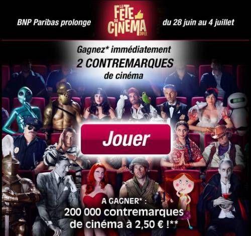 Prolonger la fête du cinéma 2012 : place à 2,5€ à gagner