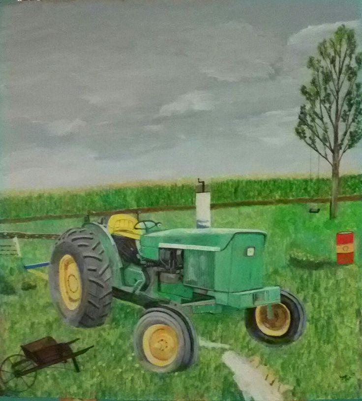 My painting - John Deere Tractor