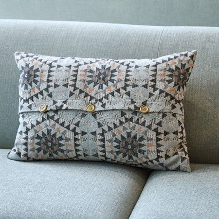 Grey Honeycomb Cushion - Cushions & Throws - Treat Your Home - Home Accessories