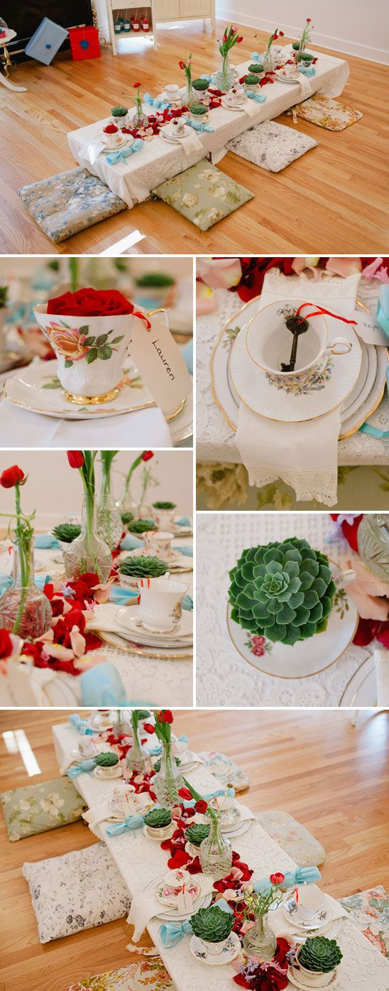 ALICE IN WONDERLAND INSPIRED BIRTHDAY PARTY: The Kids area