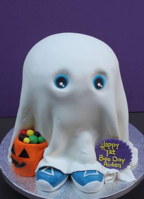Baby BOO Cake ~ Halloween Birthday... adorable!