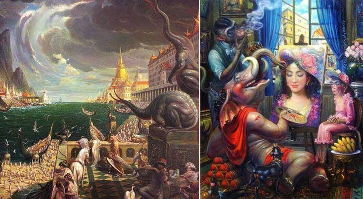 Por Amor al Arte: Arte tailandés de Prateep Kochabua. เมื่อโลกเป็นศิลปะ