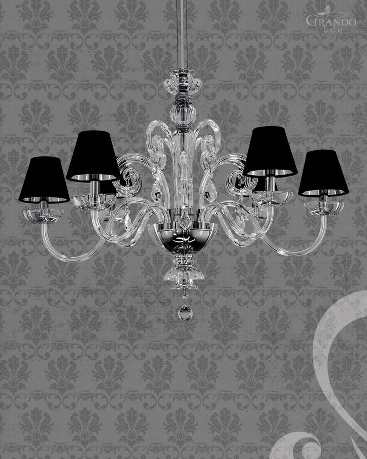 125/6 RL chrome crystal chandelier with crystal trimmings Swarovski Spectra. - GrandoLuce