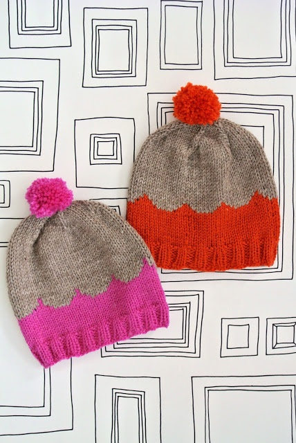 Really want to make one of these simple but chic winter hats. Love the scallop pattern.