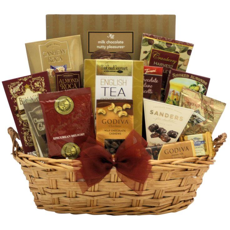 Gourmet Kosher Gift Basket, Brown