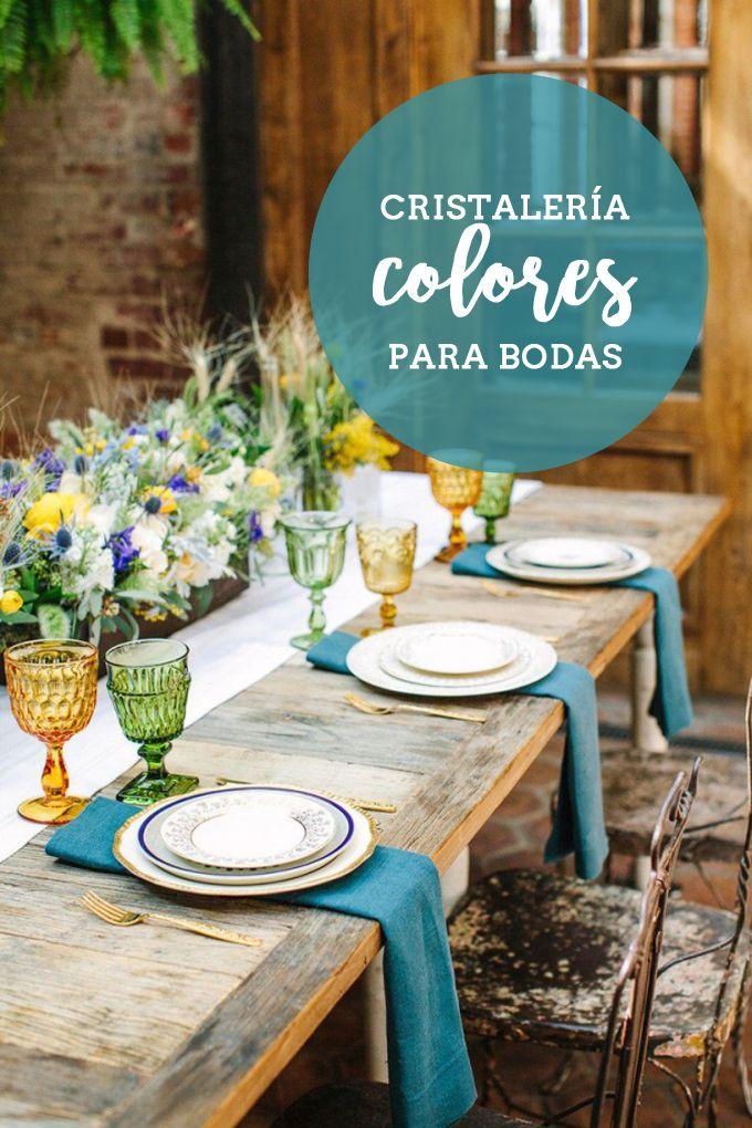cristalera de colores para bodas bonitistas