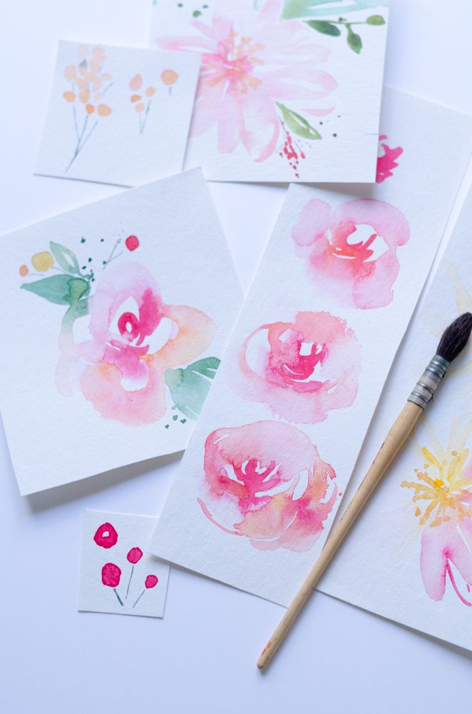 Les 25 meilleures id es de la cat gorie aquarelle facile for Composer bouquet en ligne