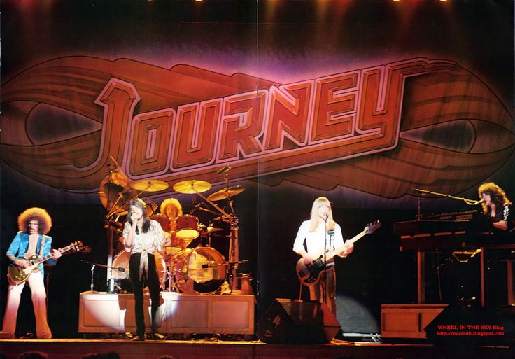 WHEEL IN THE SKY: Journey Tour Book Departure 1980 Centerfold Photo