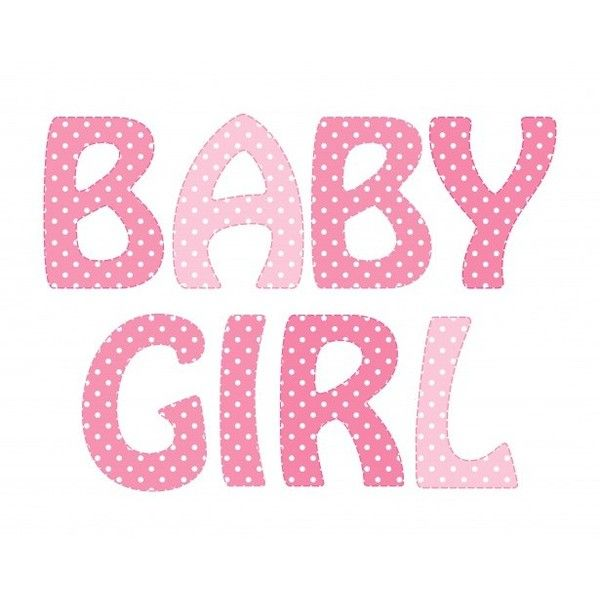 Baby Girl Pink Polka Dots Text ❤ liked on Polyvore featuring text, words, fillers, pink, phrase, quotes and saying