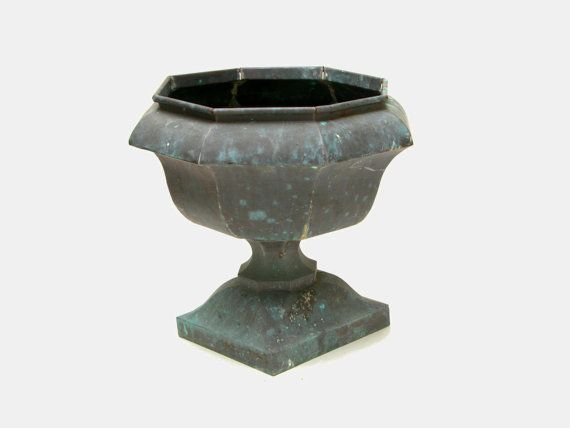 Antique versailles copper garden planter  by MidCenturyProps, $275.00: Garden Planters
