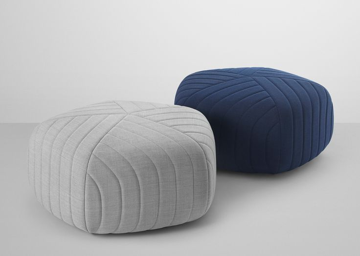 Oslo design studio Anderssen & Voll has created a collection of five-sided poufs with gently rounded corners for Danish brand Muuto